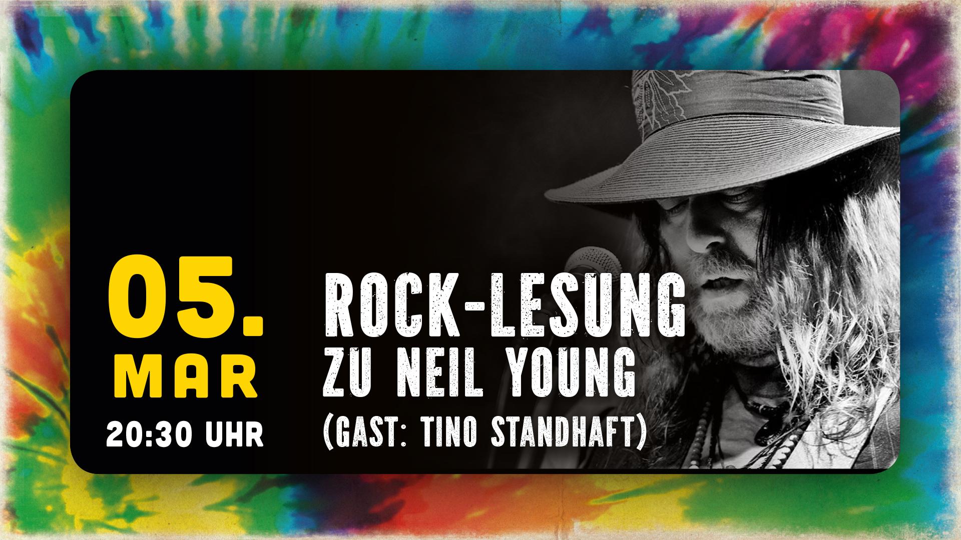 """Flowerpower Rock-Lesung zu """"Neil Young"""" Gast: László"""